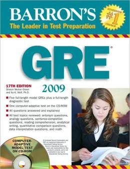 Barron's GRE with CD-ROM: How to Prepare for the GRE