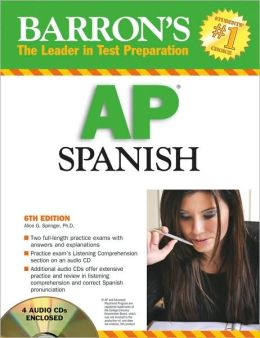 Barron's AP Spanish [With 4 Audio CDs]