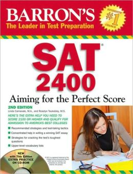 SAT 2400: Aiming for the Perfect Score - With CD