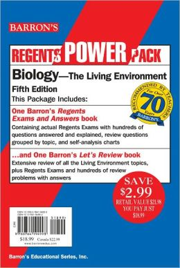 Regents: Let's Review - Biology, The Living Environment, Power Pack