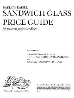 Sandwich Glass Price Guide for Pieces in Perfect Condition