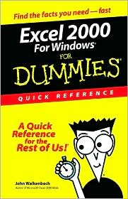 Excel 2000 for Windows For Dummies: Quick Reference