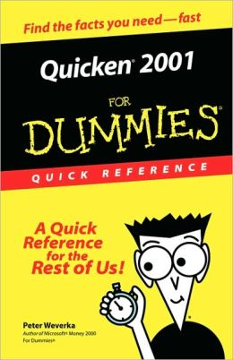 Quicken 2001 For Dummies Quick