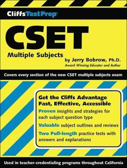 CliffsTestPrep CSET: California Subject Examination for Teachers