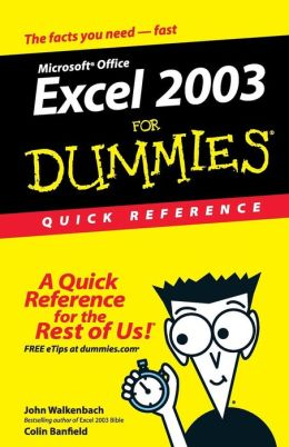 Excel 2003 For Dummies: Quick Reference