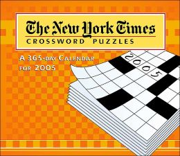 2005 New York Times Sunday Crossword Puzzles Box Calendar