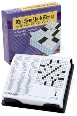 2006 New York Times Sunday Crossword Puzzles Box Calendar