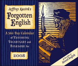 2008 Forgotten English Box Calendar
