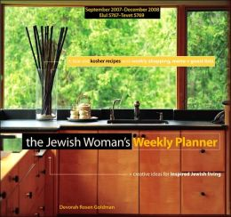 2008 Jewish Woman's Planner Daily Journal Calendar