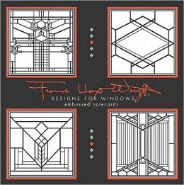Frank Lloyd Wright Designs for Windows Embossed Notecards [With 12 Envelopes]