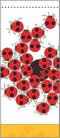 Charley Harper: Ladybugs Notepad [With Self-Adhesive Magnet]