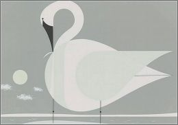 Charley Harper: Trumpeter Swan Notecards [With Envelope]