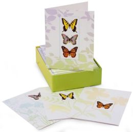Butterfly Embellished Boxed Card Set of 12