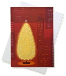 Unicef Sparkly Tree Boxed Card