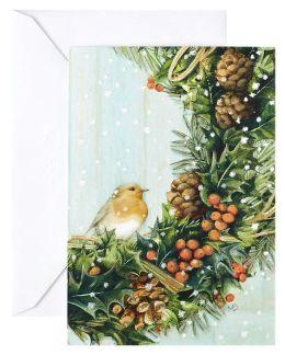 Unicef Robin Wreath Boxed Card