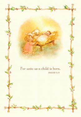 Unto This World Manger Christmas Boxed Card