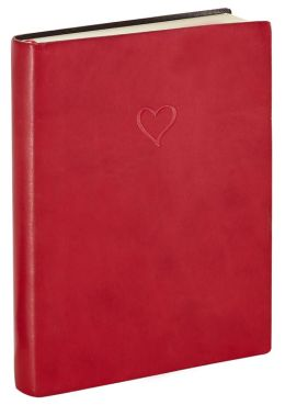 Red Italian Leather Stamped Heart Journal 5