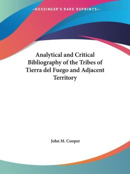 Analytical and Critical Bibliography Of