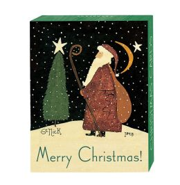 Folk St. Nick Christmas Boxed Card