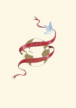 DOVE WITH RIBBON AROUND GLOBE LA PETITE PRESS