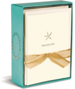 La Petite Starfish Thank You Boxed Note Cards Set of 10