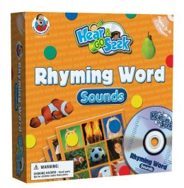 Hear & Go Seek Rhyming Word Sounds [With Game Pieces and 12 Gameboards and CD]