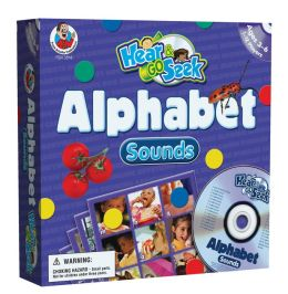 Hear & Go Seek Alphabet Sounds [With Game Pieces and 12 Gameboards and CD]