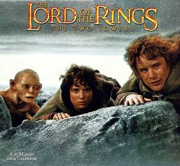 2004 The Lord of the Rings - The Two Towers Wall Calendar