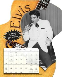 2007 Elvis Fun Shape Wall Calendar