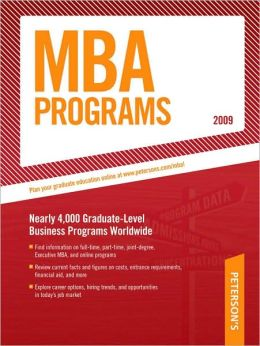 Peterson's MBA Programs 2009