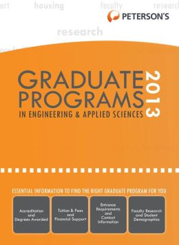 Graduate Programs in Engineering & Applied Sciences 2013