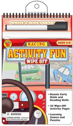 Racing Write and Wipe Fun Tablet
