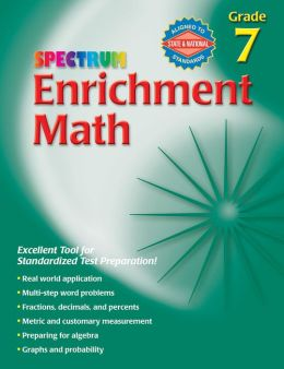 Spectrum Enrichment Math Grade 7