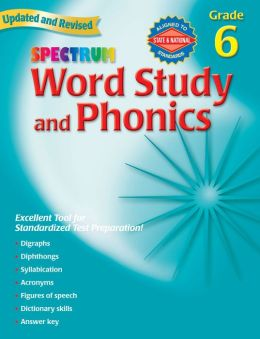 Spectrum Word Study and Phonics, Grade 6