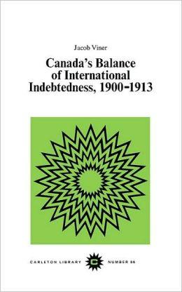 Canada's Balance of International Indebtedness, 1900-1913
