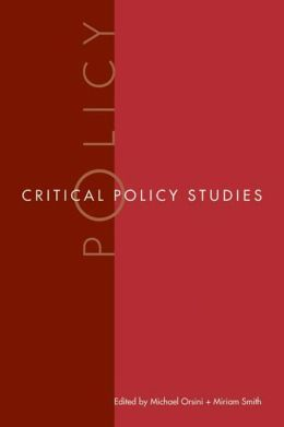 Critical Policy Studies
