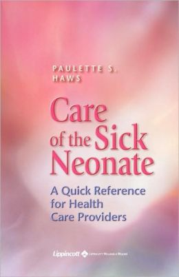 Care Of The Sick Neonate