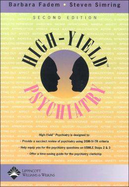 High-Yield Psychiatry
