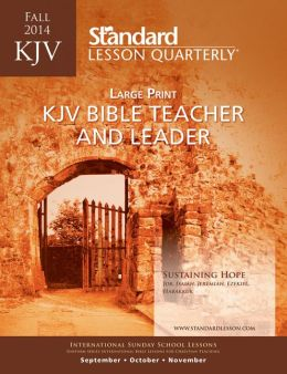 KJV Bible Teacher & Leader Large Print-Fall 2014