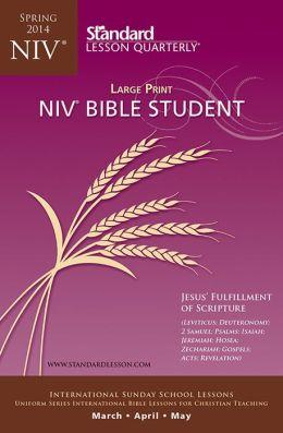 NIV Bible Student Large Print-Spring 2014