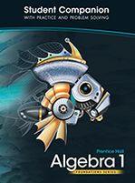 High School Math 2011 Algebra 1 Foundations Student Companion