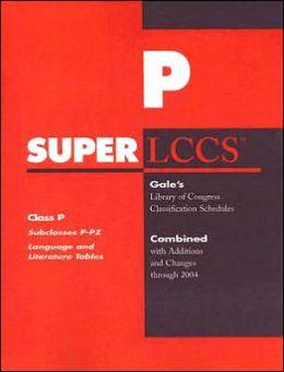 Class P: Subclasses P-Pz: Language and Literature Tables