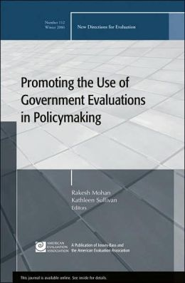 Promoting the Use of Government Evaluations in Policymaking