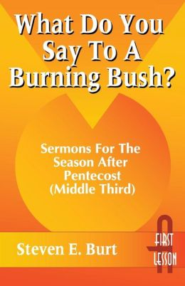 What Do You Say to a Burning Bush?
