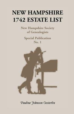 New Hampshire, 1742 Estate List