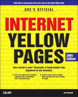 Que's Official Internet Yellow Pages, 2004 Edition