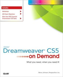 Adobe Dreamweaver CS5 on Demand (On Demand Series)