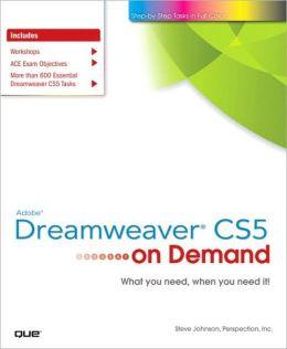 Adobe Dreamweaver CS5 on Demand (On Demand Series)