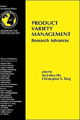 Product Variety Management: Research Advances