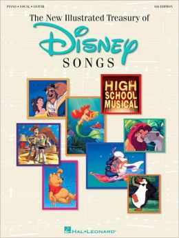 The Illustrated Treasury of Disney Songs - - Piano/Vocal/Guitar
